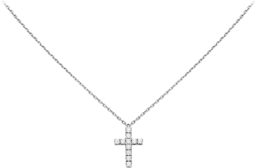 Collier SymbolesOr gris, diamants
