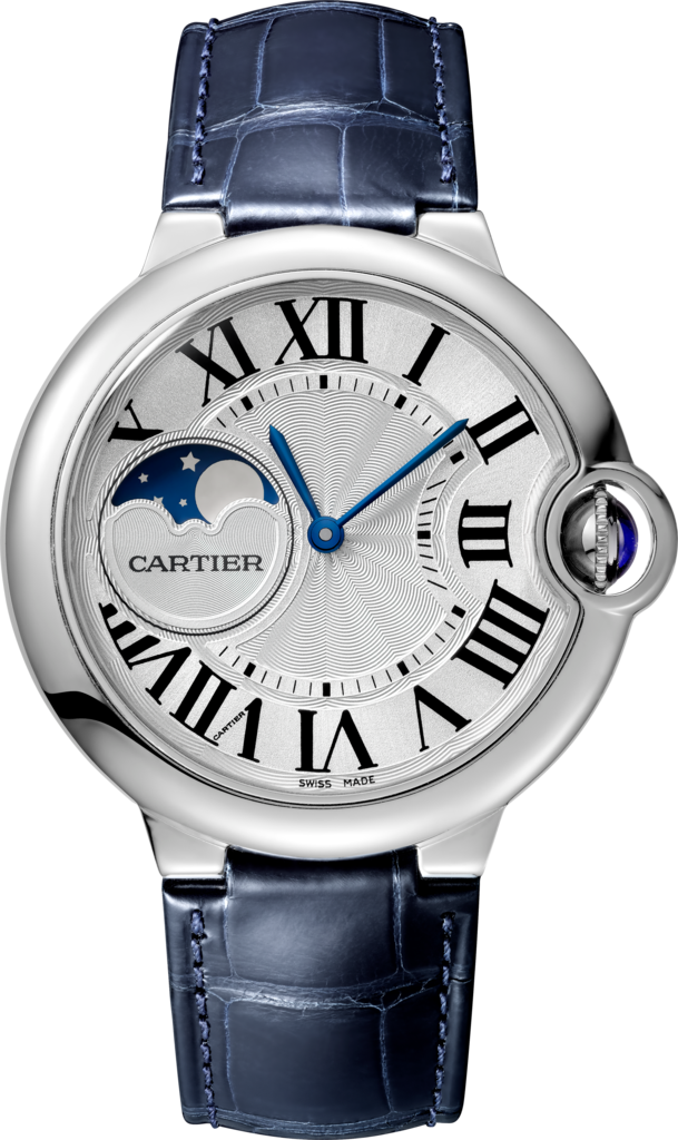 Ballon Bleu de Cartier watch37 mm, steel, leather