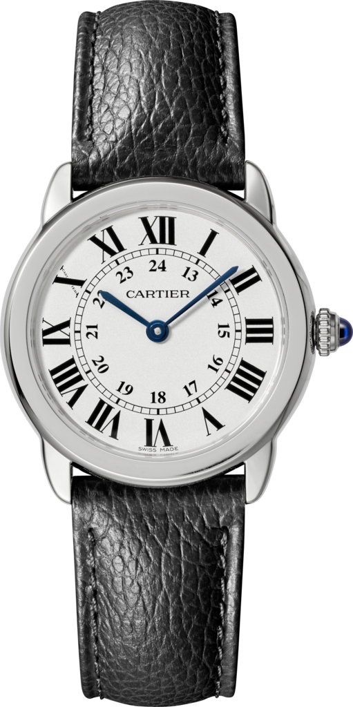 Ronde Solo de Cartier watch29mm, steel, leather
