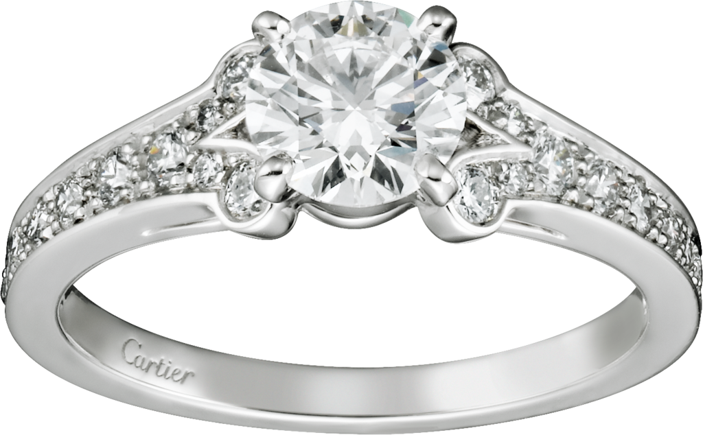 Ballerine SolitairePlatinum, diamonds