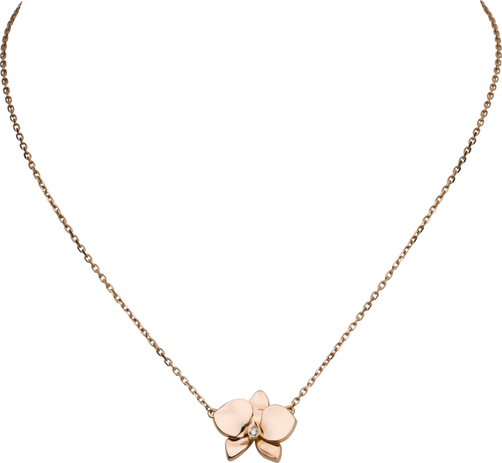 Collier Caresse d'Orchidées par CartierOr rose, diamant